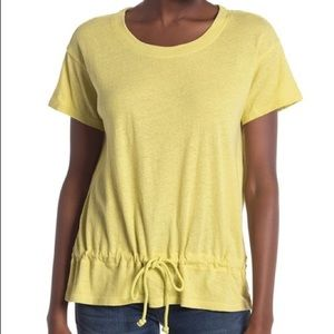 Madewell Yellow Top Drawstring Waist XSmall Short